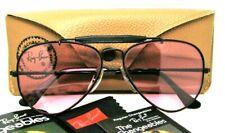 Ray-Ban USA NOS Vintage B&L Bravura 58mm Aviator Rose Changeables New Sunglasses