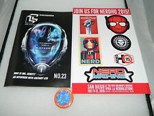 Loot Crate Issue 23 Cyber June 2015 Magazine & Pin Back Button NerdHQ Stickers