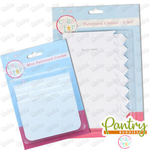 Cake Star Patterned Icing Combs / Cake Scraper for Cake Decorating - All Sizes