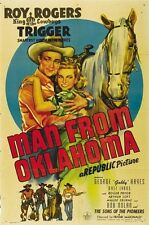 Roy Rogers Man from Oklaoma 1945 cult western movie poster print 25