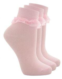 6 Paires Enfants Filles & De Bébé Dentelle Froncée Haut Riche En Coton