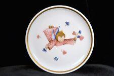 "Collectible Plates ~ 4"" Mini Hummel Multi-Color Collector Plate ""Cherub's Gift"""