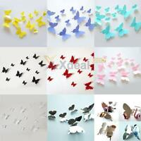 3D Butterfly Wall Stickers Mural Art Decor Home Kids Room Decals Removable 12PCS