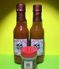 2 Bottle Homemade Super Hot Sauce King Hawashin's Peppers, And One Bottle Spice