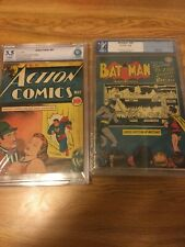 New ListingBatman 48 Pgx 3.0 Action 24 Cbcs 3.5 Superman Dc Lot Golden Age 1940