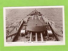 HMS Nelson Foc'sle looking Forrard unused RP pc Wright & Logan Southsea Ref D368