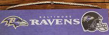 """Baltimore Ravens Helmet Team Sign NFL Licensed Wood FanCave 16""""x4"""""""