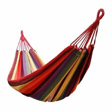 "68"" x 32"" Canvas Garden Red Hammock Outdoor Camping Portable Beach Swing Bed"
