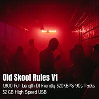OLD SKOOL RULES USB DJ PACK 1,800 FULL LENGTH 320KBPS (HIGH SPEED 32GB USB)