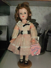 """American Character Sweet Sue Hard Plastic 18"""" Walker, Tagged """"Ding Dong School"""""""