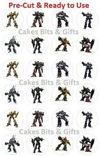 24 x TRANSFORMERS Edible Wafer Cupcake Cake Toppers, PRE-CUT Ready to Use