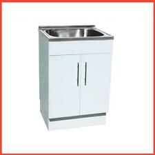 Stainless Steel Sink With Polyurethane Cabinet Laundry Tub-45L