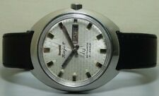 VINTAGE HMT Rajat Automatic Day Date MENS WRIST WATCH r800 OLD used ANTIQUE