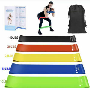 5 Bandes élastique de musculation bande de résistance fitness sport yoga