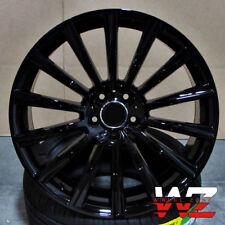 "19"" Black Wheels Fit Mercedes E300 E400 E350 E500 E550 2010 and up (Rims Set 4)"