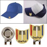 Golf Ball Putting Ausrichtung Ziel Werkzeug W/Magnetisch Visor Hut Clip Hot H1G7