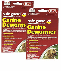 8 in 1 Safe Guard Canine Dewormer for Large Dogs, 4-Gram- 2 Pack
