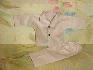 1958 VOGUE #6310 Jeff Beige Broadcloth Pajamas