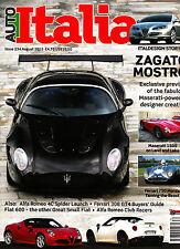 AUTO ITALIA #234 08/2015 ZAGATO MOSTRO Alfa Romeo 4C Spider FERARRI 308 GT4 @NEW