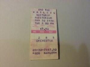 BOB MARLEY WAILERS 5-30-1978 NORTHROP MN TICKET NMINT RARE CREASES HTF VTG!