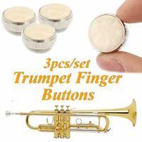3Pcs Trumpet Finger Buttons Valve Cap Polymeride Copper for Repairing Part