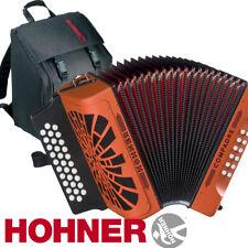 Hohner Compadre GCF Sol 31 Button Diatonic Accordion - Orange with Bag, Straps
