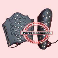 Ancient Arm Guard Bracers Leather Forearm Guards Medieval Roman Vambraces Pair B