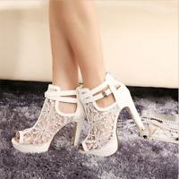 Women's High Heels Shoes Stiletto Ankle Boots Pumps Platform Sandals Peep Toe