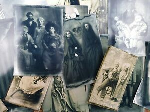 50 Vintage Weird oddities Halloween Photo Cards scrapbook Ephemera Paper Pack