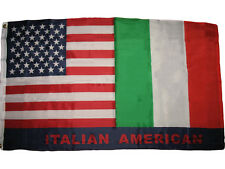 3x5 Italian American Flag Italy USA Friendship Nylon Poly Blend 3'x5' Banner