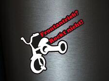 1 x Aufkleber Frontantrieb Rockt Nicht Shocker Sticker Stickerbomb Tuning Fun