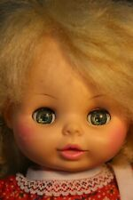 "HORSMAN -Baby Doll - Blonde Hair - Blue O/C Eyes - 13"" D & Wet"