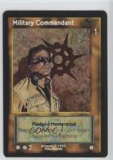 1995 Shadowfist Collectible Card Game #NoN Military Commandant Gaming 2ts