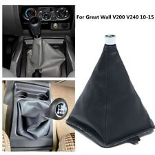 Black Manual Transmission Shift Lever Boot Cover  For Great Wall V200 V240 10-15
