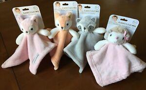"Choice of Small Adorable Security Blankets Beyond 10"" x 10"" Raccoon Fox Hedgehog"