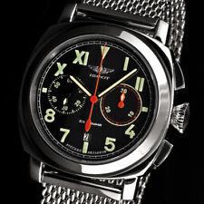 Pilot Cronógrafo Poljot 3133 Big Rusos Mecánico Reloj Aviator Milanesa