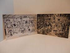 PETTINGILL Vintage Funny LARGE Hillbilly Postcards Tavern Black Hills Swamp