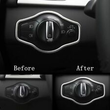 Trim Frame For Audi A4 S4 A5 S5 Q5 B8 Chrome Auto Headlight Switch Button Cover