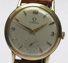Authentic OMEGA Cal.410 Round Case Hand-winding Men's wrist watch_331178