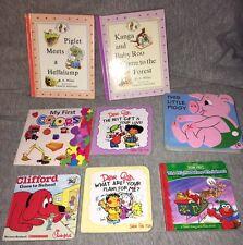 Lot of 8 Board Books Baby Toddler Sesame Street Winnie Pooh Dear God Kids