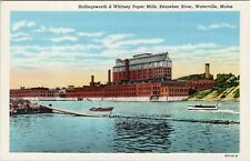 New ListingVintage postcard, Hollingsworth & Whitney Paper Mills, Kennebec, Waterville, Me