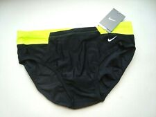 NIKE Volt Green VICTORY Color Block Nylon/Spandex Brief Swimsuit NWT Size 36