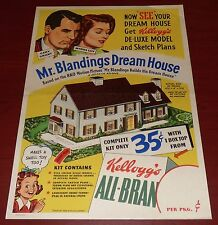 KELLOGG'S ORIGINAL 1948 POSTER MR. BLANDINGS BUILDS HIS DREAM HOUSE CARY GRANT