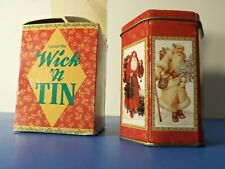 Wick n Tin - Vintage Christmas - Candle - Bayberry Scent - New - Giftco