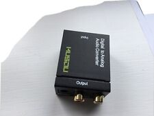 Optical Coaxial Digital to Analog Audio Converter 3.5mm RCA L/R 1m Toslink cable