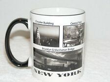 NEW YORK CERAMIC COFFEE MUG With IMAGES OF NEW YORK CITY GUC