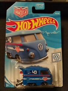 2019 HOT WHEELS USA CARD VOLKSWAGEN KOOL KOMBI BLUE URBAN OUTLAW MAGNUS WALKER