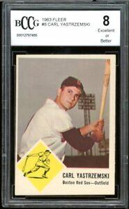 1963 Fleer #8 Carl Yastrzemski Card BGS BCCG 8 Excellent+