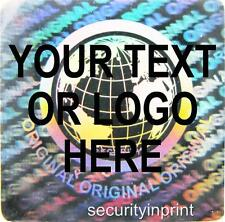 392 Personalised customised WORLD hologram security stickers labels S20-1S