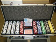 11.5 Gram 500 count Royal Suit Design Poker Chip Set w/ Aluminum case! Brand New